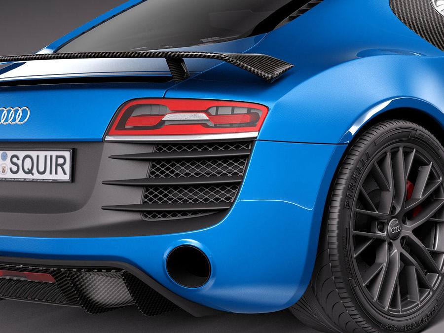 Audi R8 LMX 2015 royalty-free 3d model - Preview no. 4