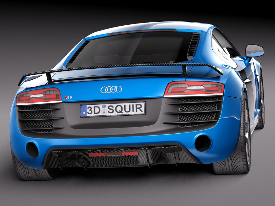 Audi R8 LMX 2015 royalty-free 3d model - Preview no. 6