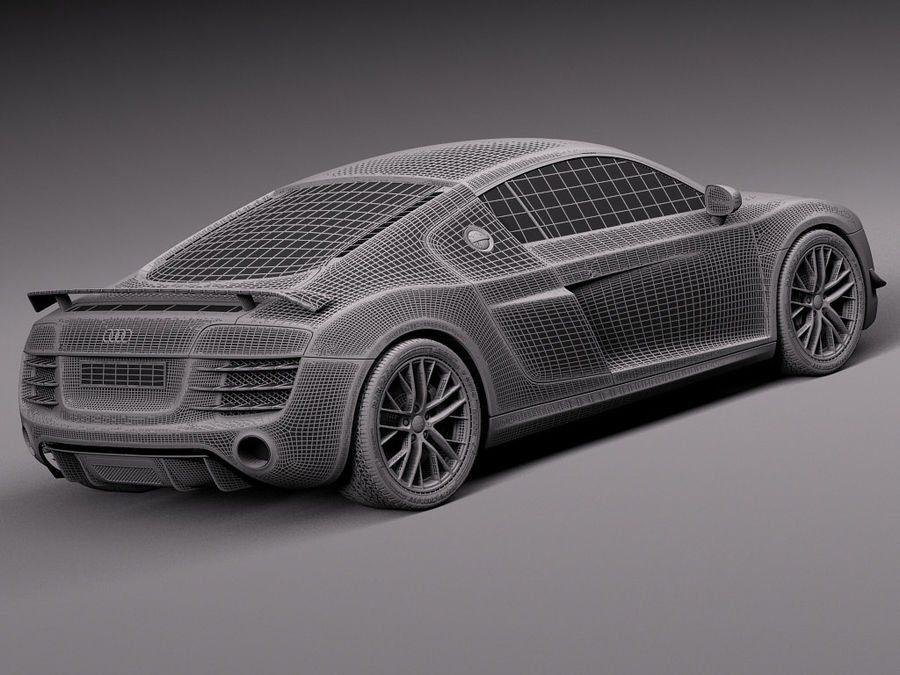 Audi R8 LMX 2015 royalty-free modelo 3d - Preview no. 16