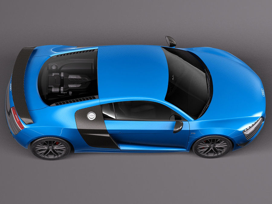 Audi R8 LMX 2015 royalty-free 3d model - Preview no. 8