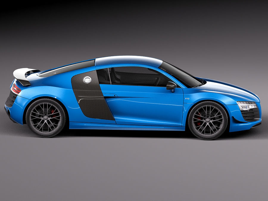 Audi R8 LMX 2015 royalty-free 3d model - Preview no. 7