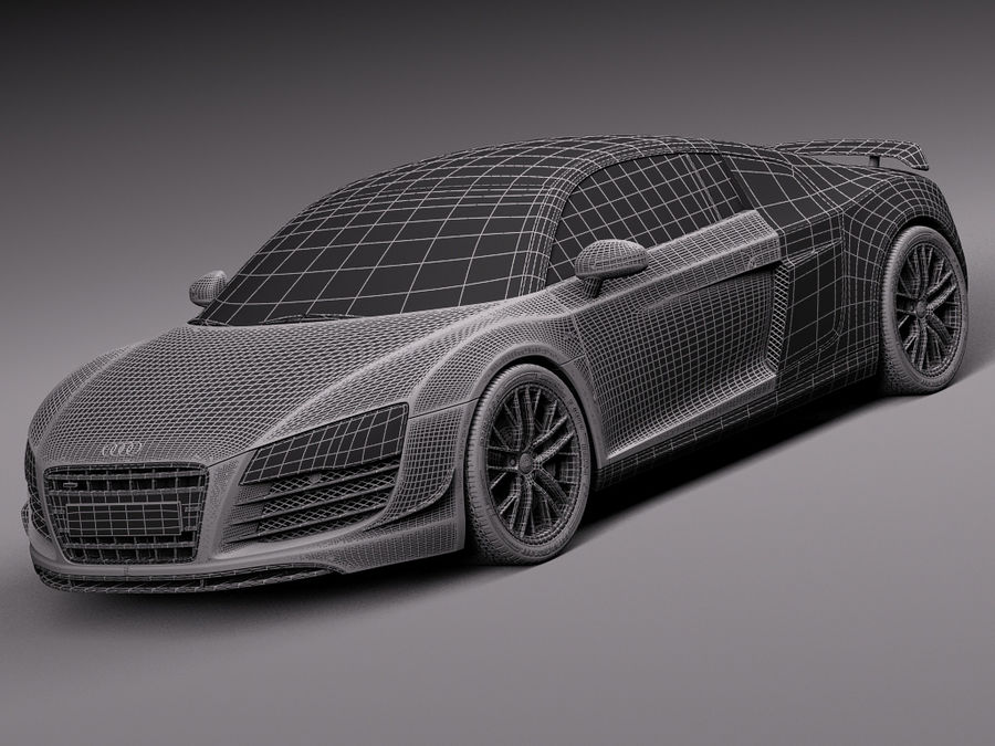 Audi R8 LMX 2015 royalty-free 3d model - Preview no. 17