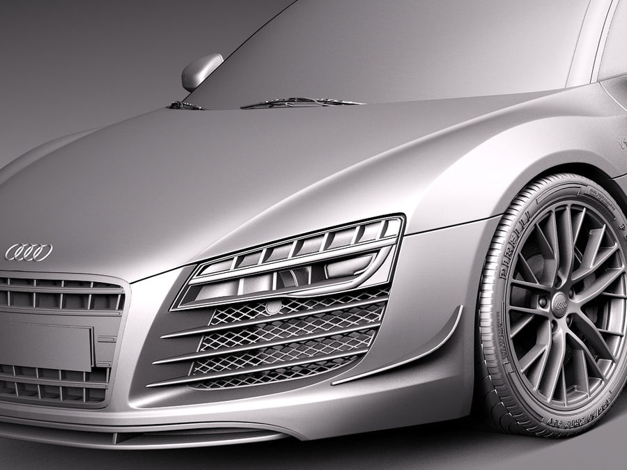 Audi R8 LMX 2015 royalty-free 3d model - Preview no. 12