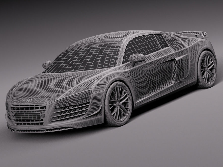 Audi R8 LMX 2015 royalty-free 3d model - Preview no. 15