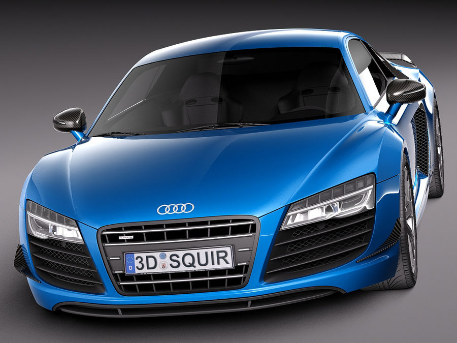 Audi R8 LMX 2015 royalty-free 3d model - Preview no. 2