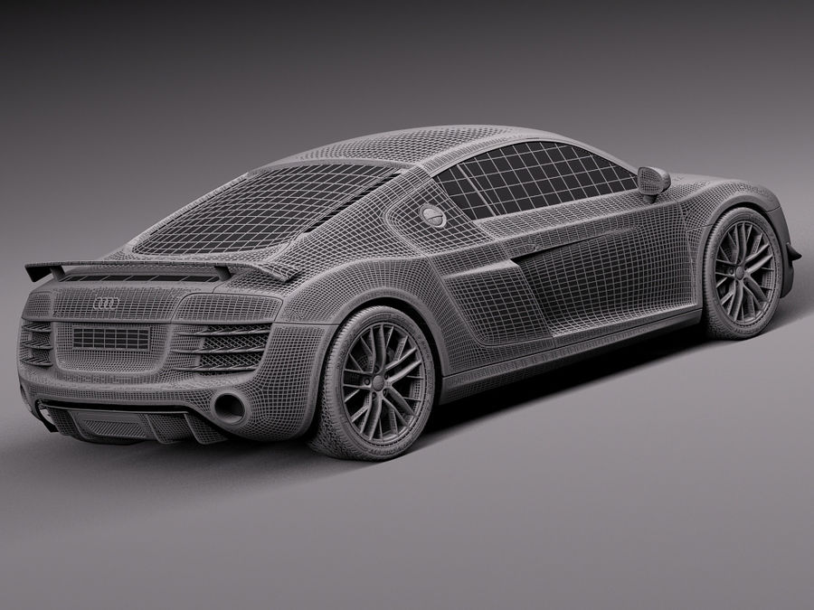 Audi R8 LMX 2015 royalty-free 3d model - Preview no. 16