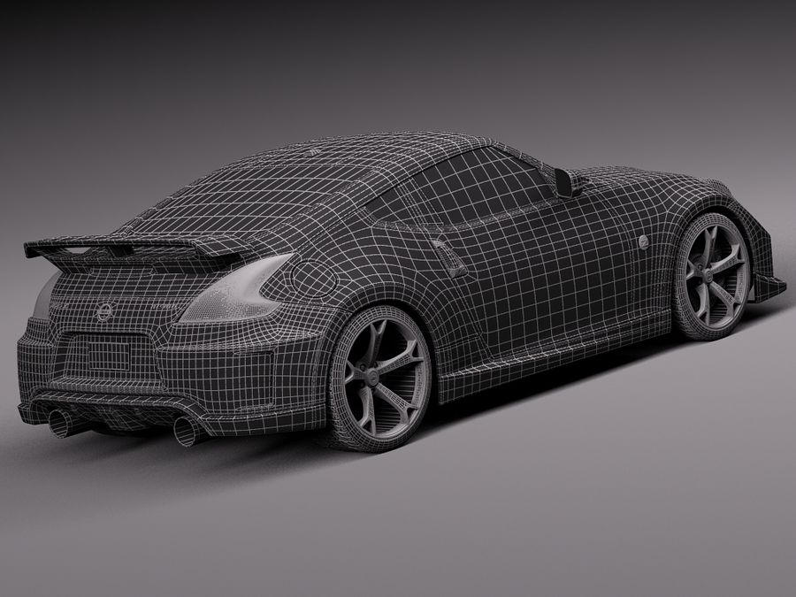 Nissan 370z Nismo 2014 royalty-free 3d model - Preview no. 16