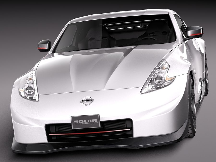 Nissan 370z Nismo 2014 royalty-free 3d model - Preview no. 2