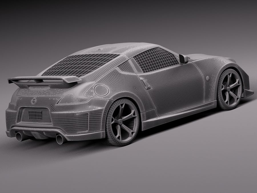 Nissan 370z Nismo 2014 royalty-free 3d model - Preview no. 14