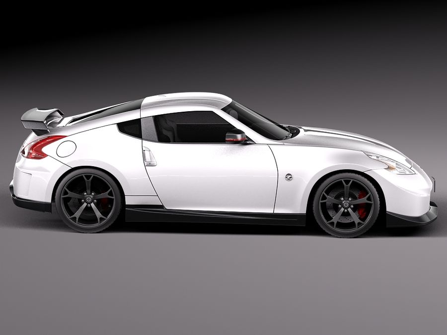 Nissan 370z Nismo 2014 royalty-free 3d model - Preview no. 7