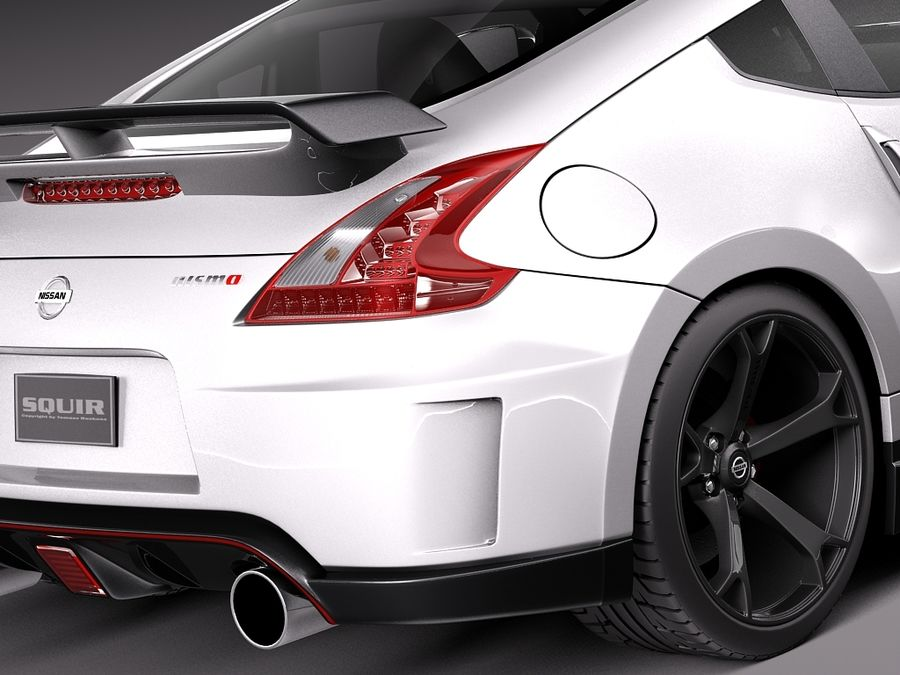 Nissan 370z Nismo 2014 royalty-free 3d model - Preview no. 4
