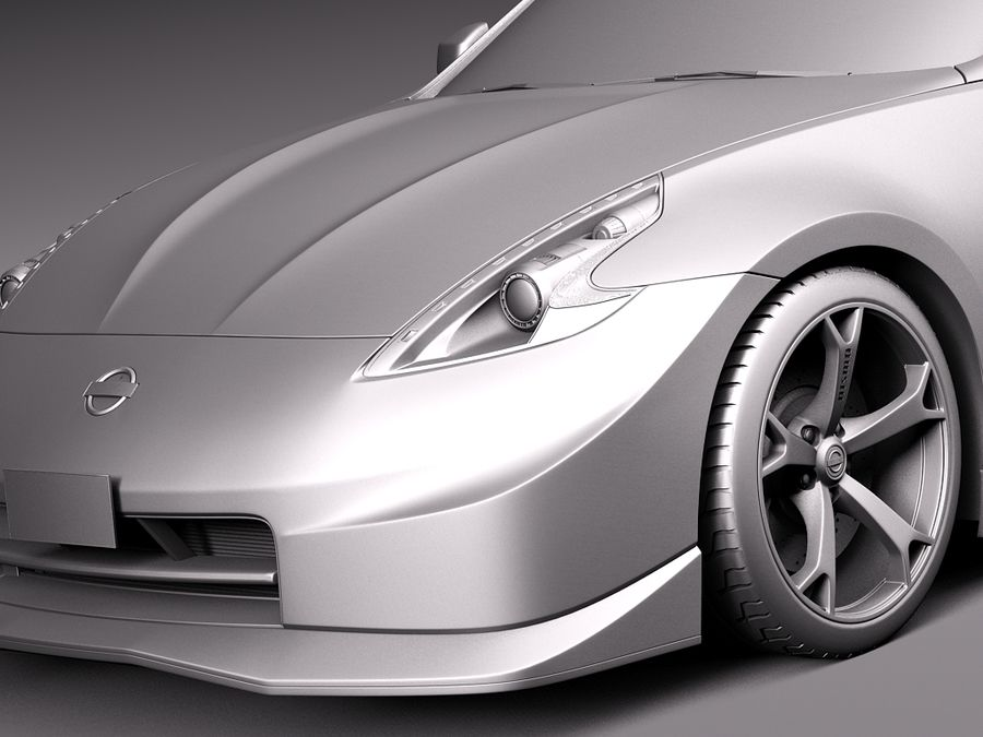 Nissan 370z Nismo 2014 royalty-free 3d model - Preview no. 10
