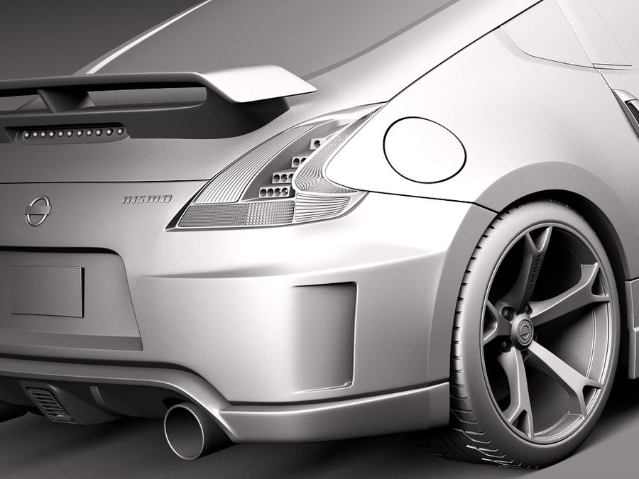Nissan 370z Nismo 2014 royalty-free 3d model - Preview no. 11