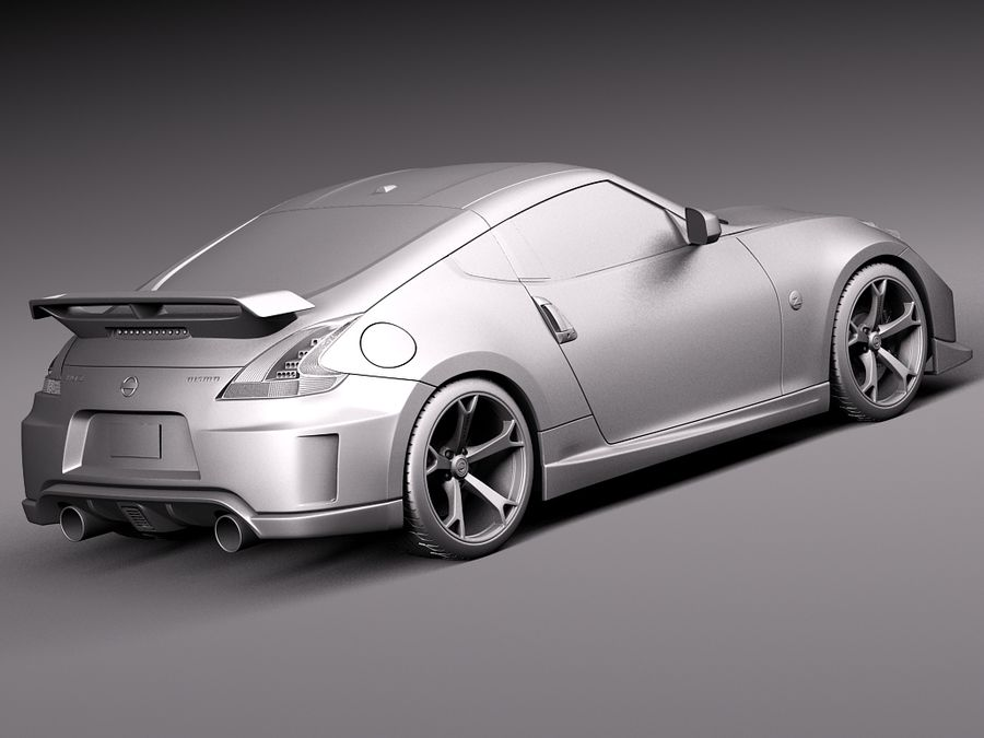 Nissan 370z Nismo 2014 royalty-free 3d model - Preview no. 12