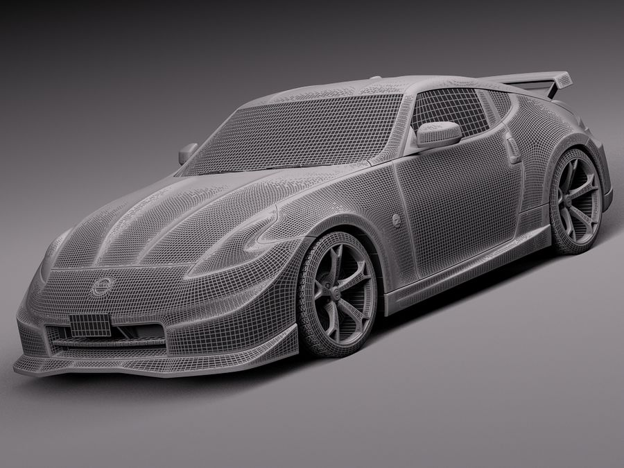 Nissan 370z Nismo 2014 royalty-free 3d model - Preview no. 13