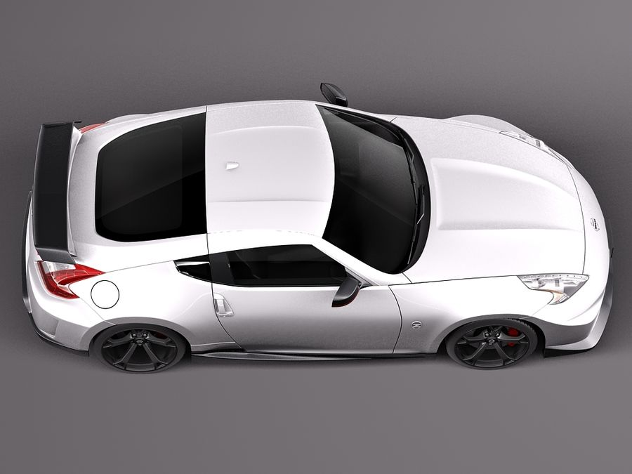 Nissan 370z Nismo 2014 royalty-free 3d model - Preview no. 8