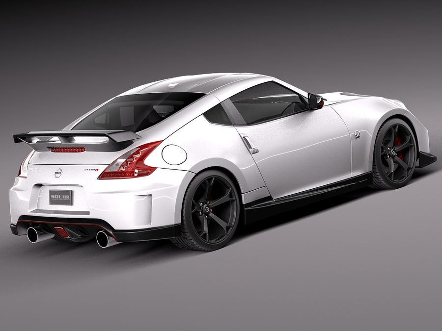 Nissan 370z Nismo 2014 royalty-free 3d model - Preview no. 5