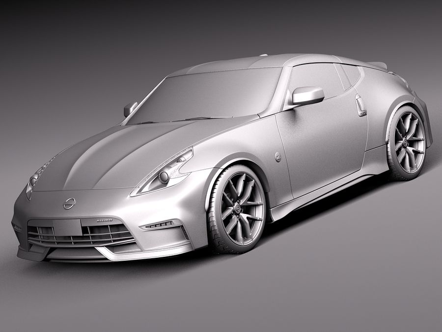 Nissan 370Z Nismo 2015 royalty-free 3d model - Preview no. 9