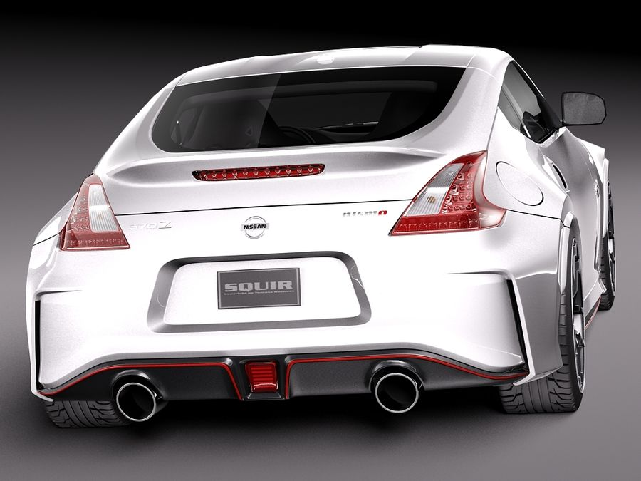 Nissan 370Z Nismo 2015 royalty-free 3d model - Preview no. 6