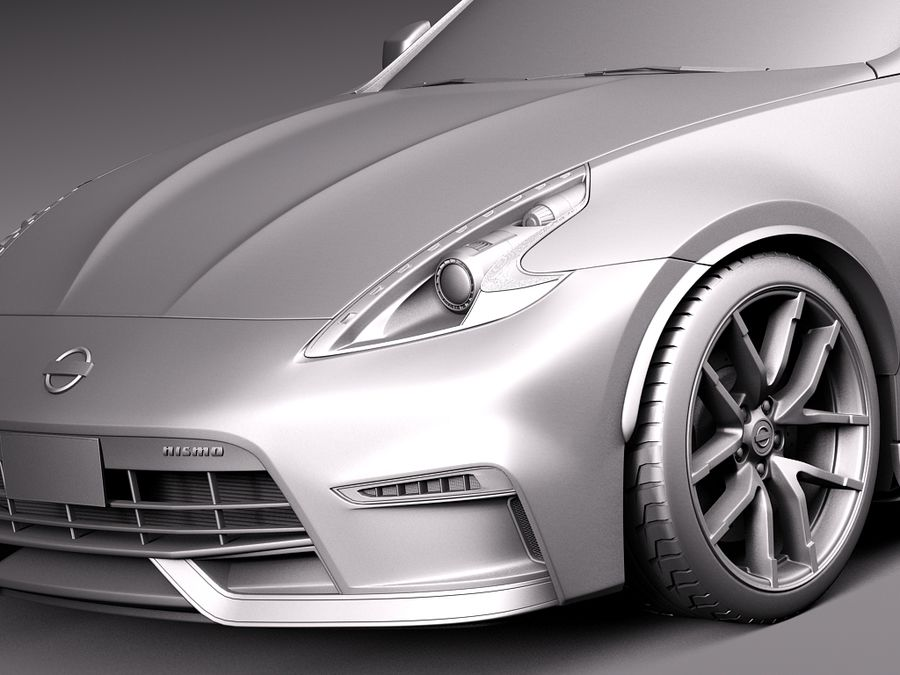 Nissan 370Z Nismo 2015 royalty-free 3d model - Preview no. 10