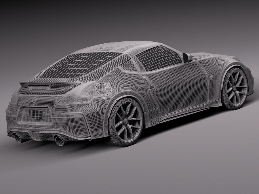 Nissan 370Z Nismo 2015 royalty-free 3d model - Preview no. 14