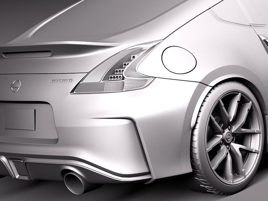 Nissan 370Z Nismo 2015 royalty-free 3d model - Preview no. 11