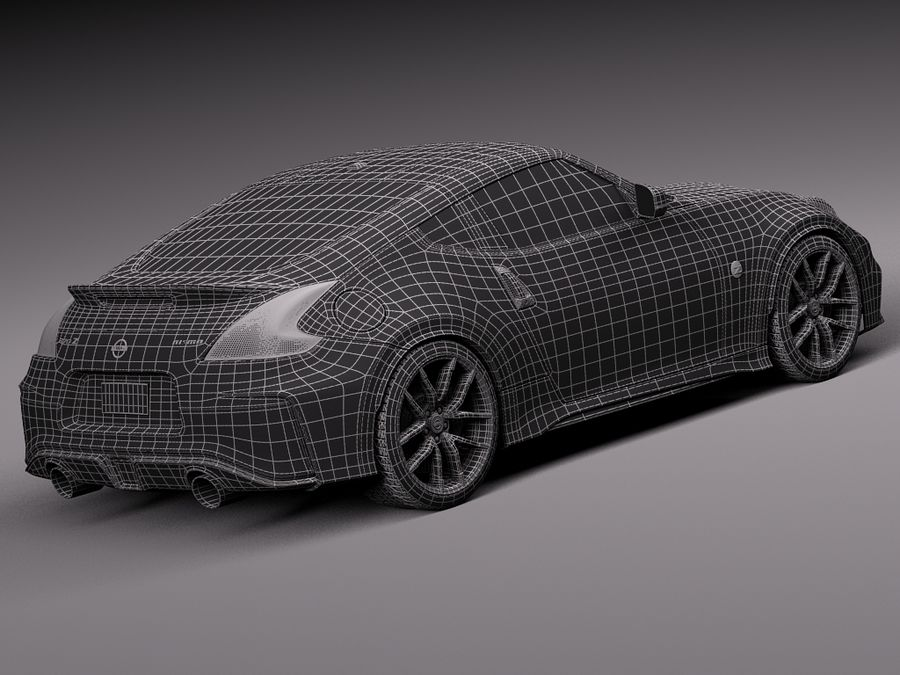 Nissan 370Z Nismo 2015 royalty-free 3d model - Preview no. 16