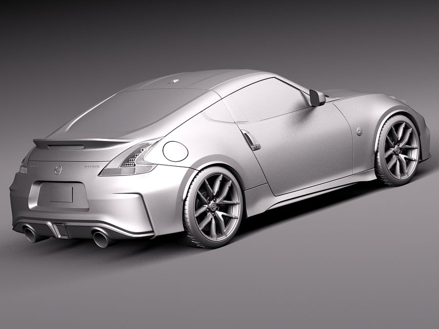Nissan 370Z Nismo 2015 royalty-free 3d model - Preview no. 12