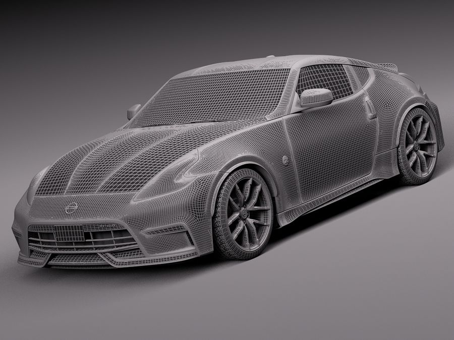 Nissan 370Z Nismo 2015 royalty-free 3d model - Preview no. 13