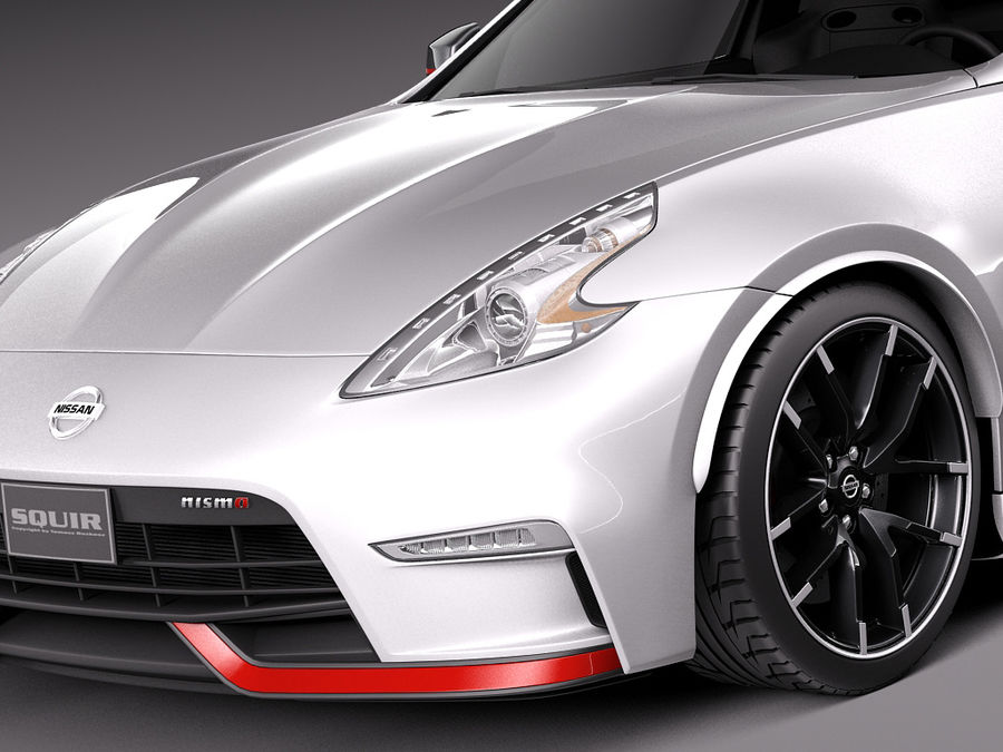 Nissan 370Z Nismo 2015 royalty-free 3d model - Preview no. 3