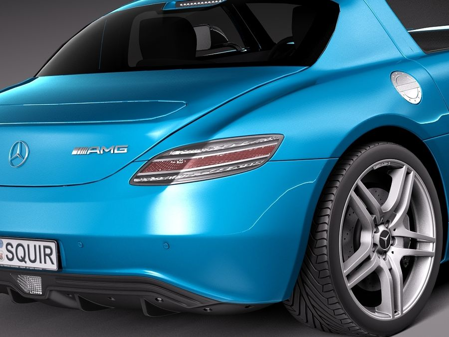Mercedes SLS AMG Coupe Electric Drive 2014 royalty-free 3d model - Preview no. 4