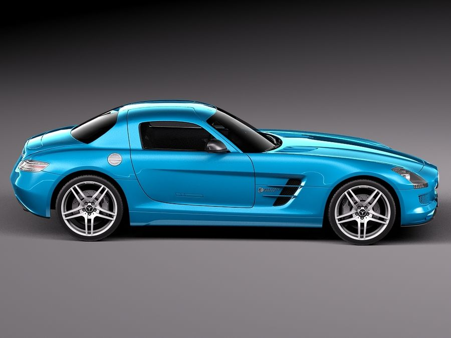 Mercedes SLS AMG Coupe Electric Drive 2014 royalty-free 3d model - Preview no. 7