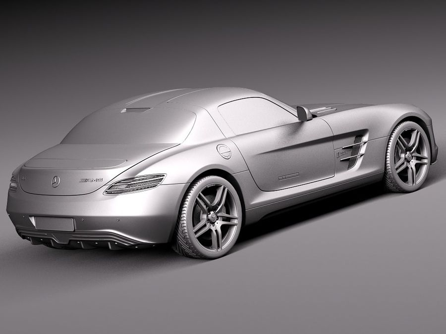 Mercedes SLS AMG Купе Электропривод 2014 royalty-free 3d model - Preview no. 12