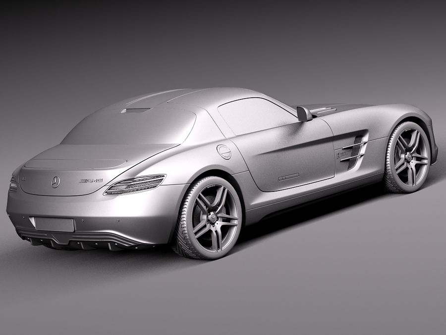 Mercedes SLS AMG Coupe Electric Drive 2014 royalty-free 3d model - Preview no. 12