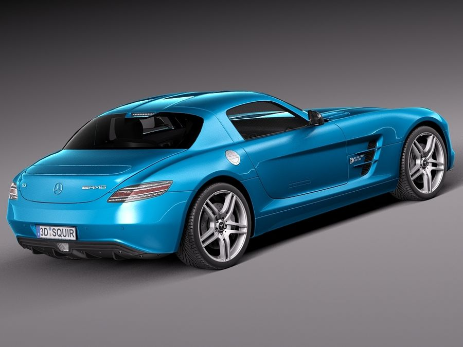 Mercedes SLS AMG Coupe Electric Drive 2014 royalty-free 3d model - Preview no. 5