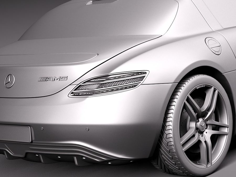 Mercedes SLS AMG Купе Электропривод 2014 royalty-free 3d model - Preview no. 11