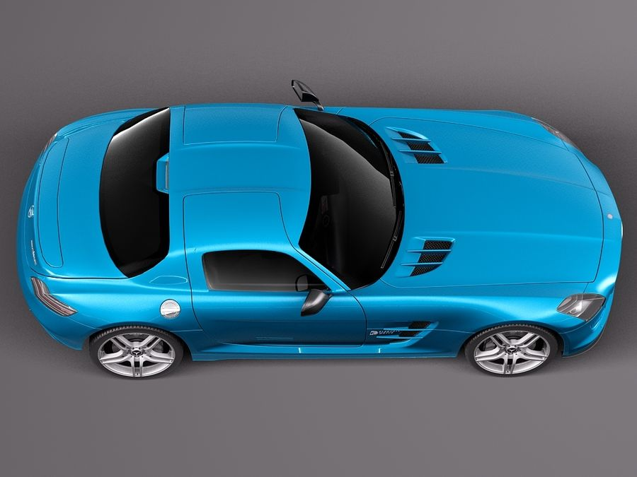 Mercedes SLS AMG Coupe Electric Drive 2014 royalty-free 3d model - Preview no. 8