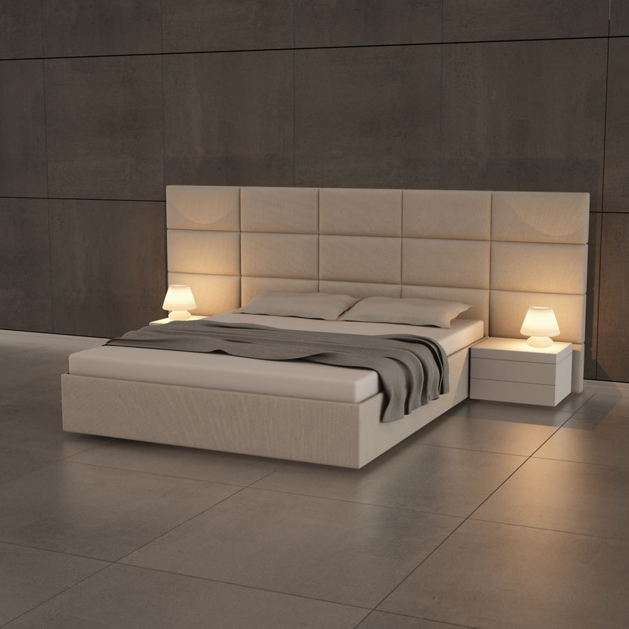 bedroom set 08 royalty-free 3d model - Preview no. 2