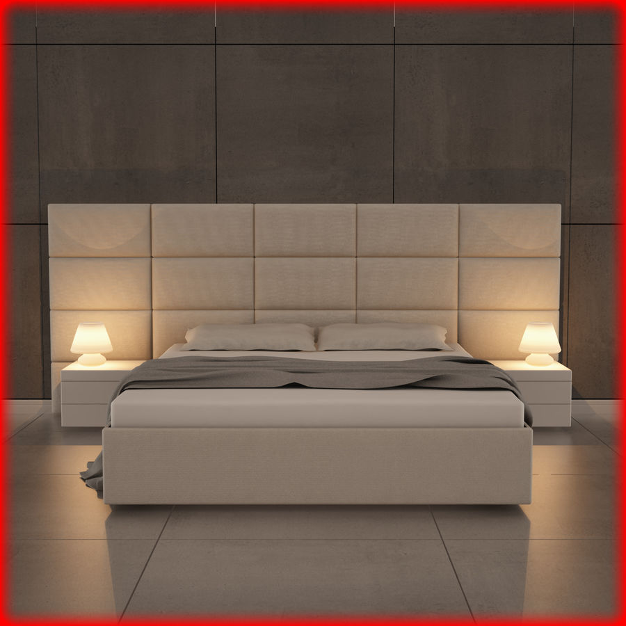 bedroom set 08 royalty-free 3d model - Preview no. 1