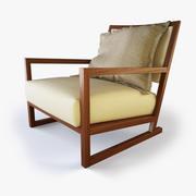Designer Lounge Chair - B 3d model