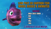 CARTOON FISH LOW POLY 3D MODEL RIGGED & ANIMATED 3d model