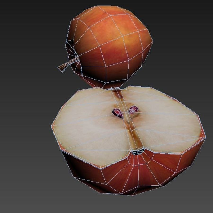 Apple royalty-free 3d model - Preview no. 9