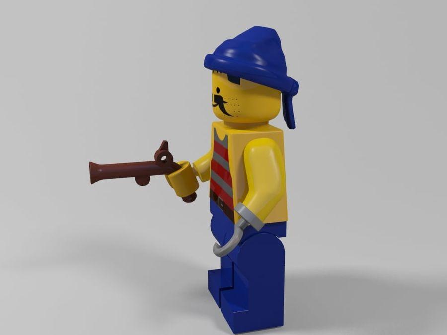 Korsan lego karakteri 3 royalty-free 3d model - Preview no. 2