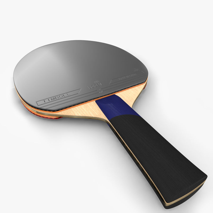 Ping Pong Paddle royalty-free 3d model - Preview no. 3