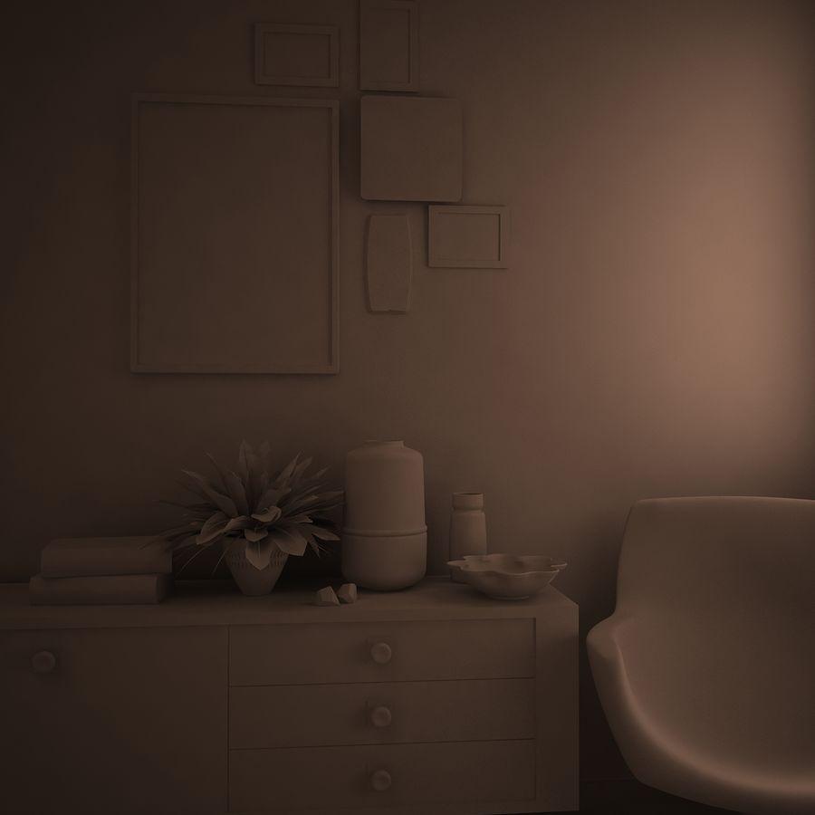 室内设计 royalty-free 3d model - Preview no. 2