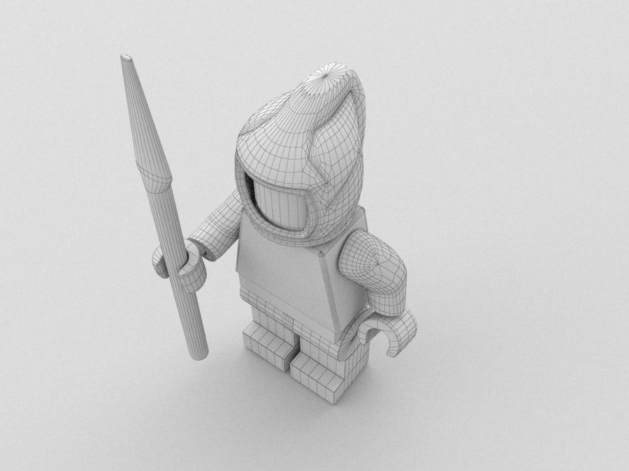 Medeltida lego karaktärer royalty-free 3d model - Preview no. 27