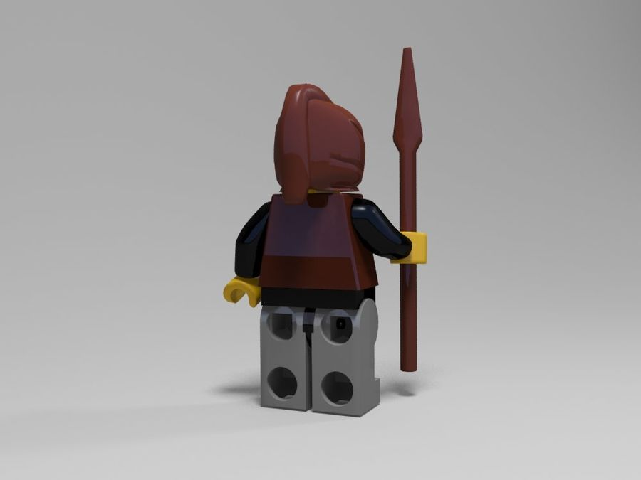 Medeltida lego karaktärer royalty-free 3d model - Preview no. 24