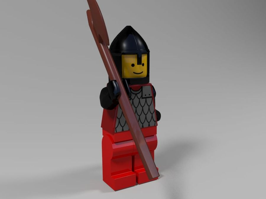 Medeltida lego karaktärer royalty-free 3d model - Preview no. 8