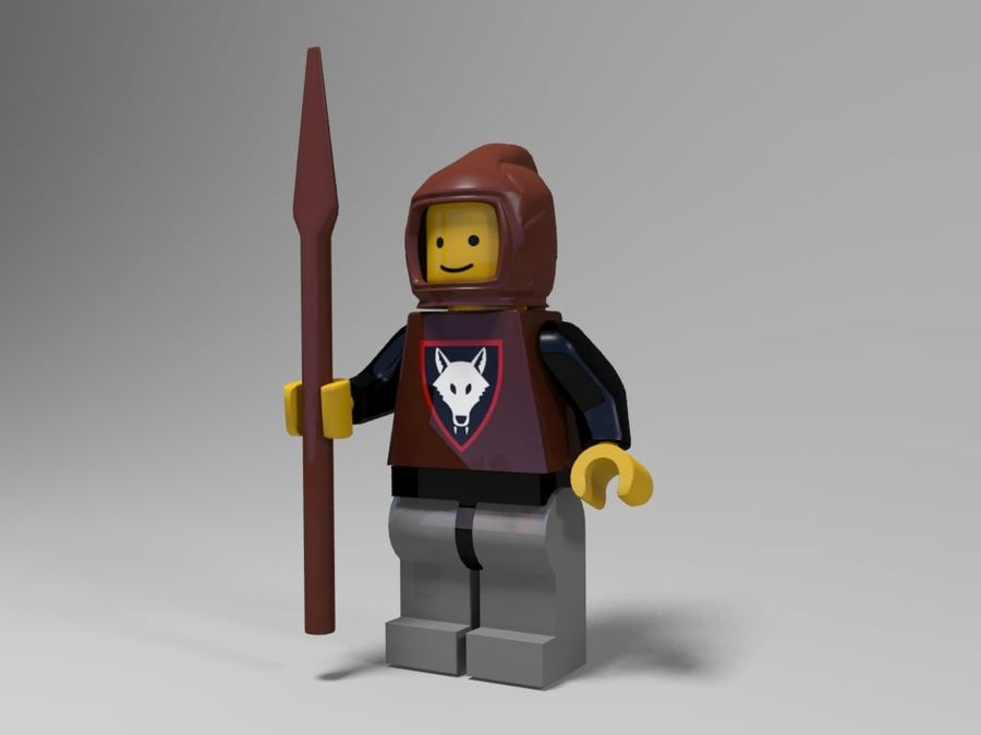 Medeltida lego karaktärer royalty-free 3d model - Preview no. 20