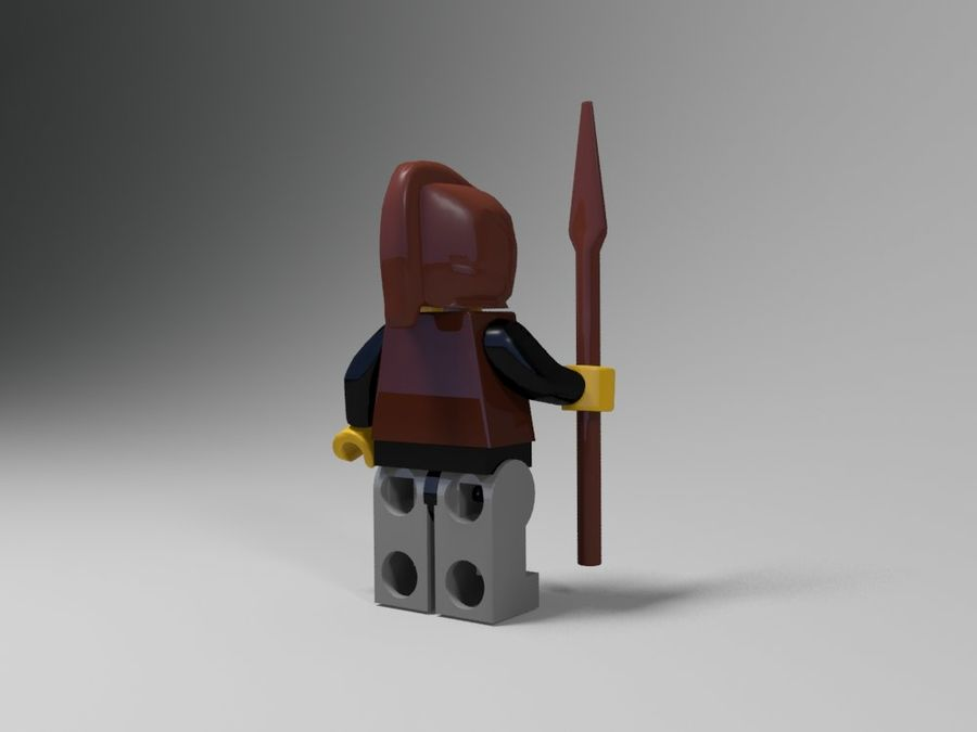 Medeltida lego karaktärer royalty-free 3d model - Preview no. 22